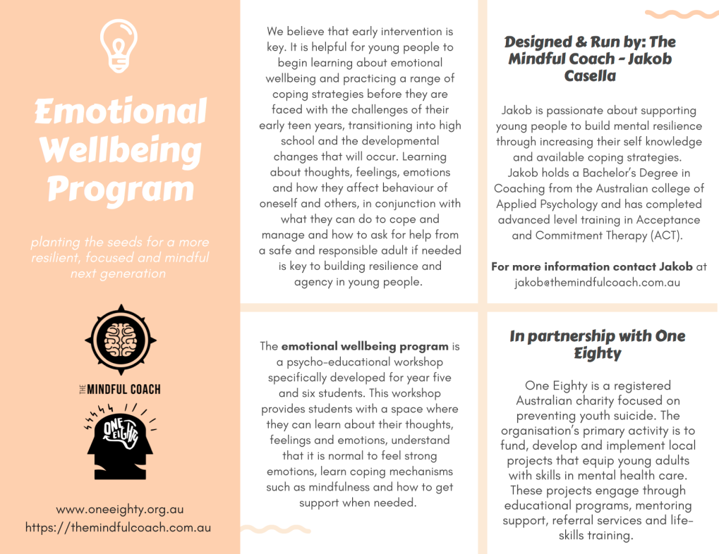 Wellbeing Program Flyer PNG